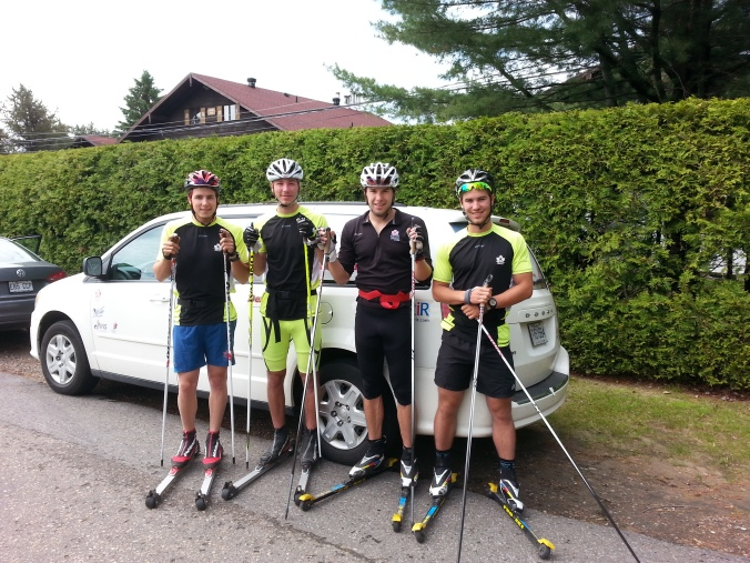Alexis Turgeon, Simon Lapointe, Alex Harvey and Raphaël Couturier are ready to go.