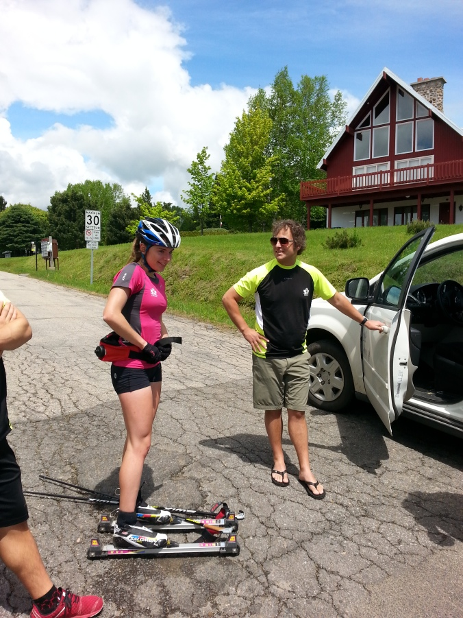 Anne-Marie is done and is about to... rollerski back home.