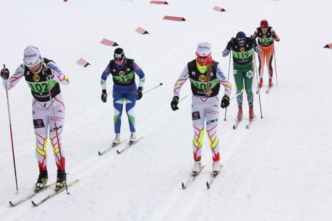 Cendrine Brown (no 109), maintenant dans l'équipe nationale sénior (développement), a fini 2e U23 au 10 km patin et 11e (finale B)au sprint sénior./ Cendrine Brown (no 109), now with the national sr team (development), finished 2nd U23 in the 10 km F and 11th (B final) in the sprint.