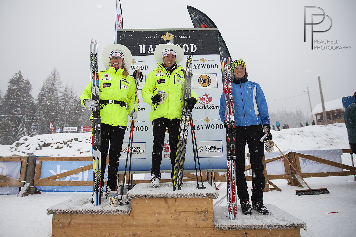 The subsequent podium/Rendues sur le podium: Nishikawa 1, Widmer 2, Bouffard-Nesbitt 3