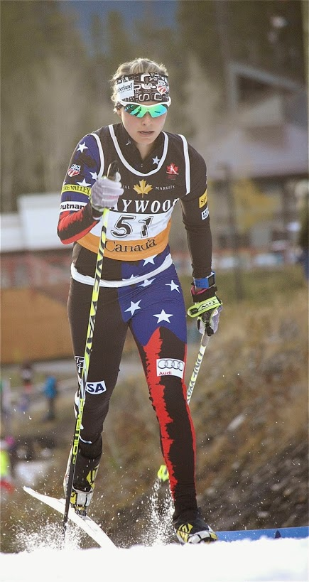 In 5th place, US Ski Team  Jessica Diggins (photo: Angus Cockney_1