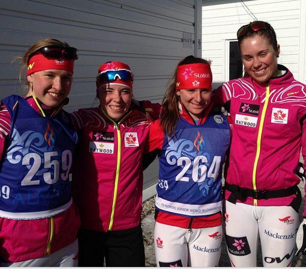 Annah Hanthorn, Katherine Stewart-Jones, Anne-Marie Comeau et Maya McIssac-Jones