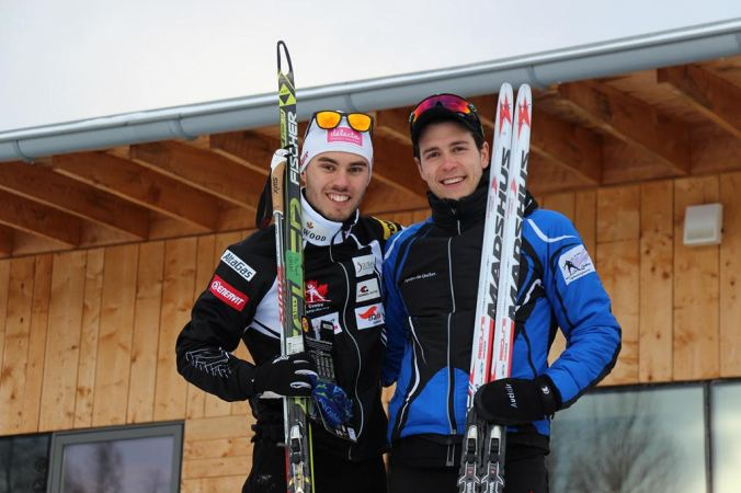 Olivier Hamel et Alexis Turgeon sur le podium (photo: Denis Hamel)