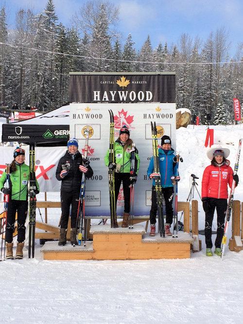 Katherine Stewart-Jones on top of the podium (photo: CCC)
